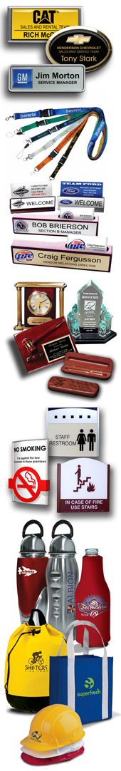 clock sets, awards, plaques, pen sets